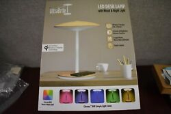 NEW Intek Ultrabrite LED Desk Lamp Multi Color w Mood and Night Dimmer Open Box $14.99