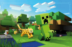 Minecraft Wall Poster Ocelot Chase Video Game Theme Bedroom Print Dorm Game Room $14.99