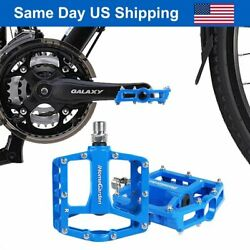 Aluminum Alloy Bike Pedals Road Bicycle Pedal Mountain Bike Accessories Blue $19.86