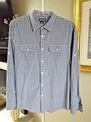 MICHAEL KORS Plaid Adjustable Button Sleeve Button Down Pocket Shirt Sz XL $10.00