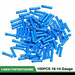 16 14 AWG Gauge Ga 100PCS Blue Car Audio Alarm Wire Butt Connector Terminal $4.89