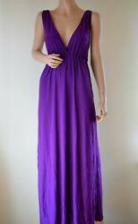 Women Low V Cut Maxi Sundress Elastic Waist Casual Gown Beach Cover Solid Colors $9.99