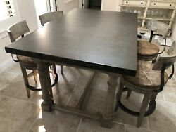 LEXINGTON TWILIGHT BAY SHELTER ISLAND TABLE W STAINLESS TOP Table only $1650.00