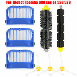 Replacement Parts Kit For iRobot Roomba 600 Series Vacuum Filter Brush Cleaner $13.97
