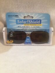 Solar Shield Fits Over Metal Polarized 52 Rec 1 Clip On Sunglasses Brown $7.29