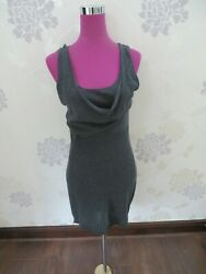 Stunning  All Saints Abraham Knitted Dress Grey Size 14 (12) BNWOT $50.03