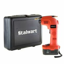 Stalwart 18V Rechargeable Battery Operated Air Compressor Travel Inflator $49.99