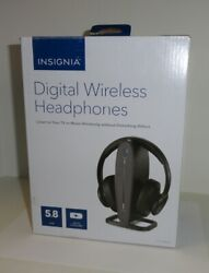 Insignia NS-HAWHP2 RF Wireless Over the Ear Headphones - Black $24.99