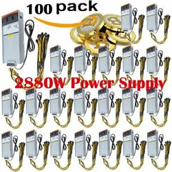 LOT 1~100x 2880W Power Supply Mining for Antminer Two X2 Video Card w Cable BT