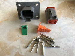 Deutsch DT Series 4 Pin Flange Connector Kit 14 16AWG Easy Crimp USA $12.00