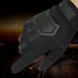 Tactical Gloves Full Finger Outdoor Gloves Motorcycle Gloves with Rubber Knuckle $18.99