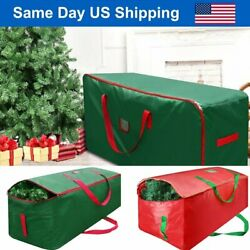 Green Christmas Tree Storage Bag Heavy Duty Holiday Up to 9 Ft. Trees w Handles $15.86