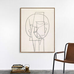 Framed Canvas Art Head 1913by Pablo Picasso Giclee Print Wall Art 24quot;x32quot; $72.99