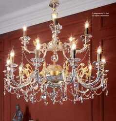 Chandelier Classic Brass Crystal Gold Hanging Design CIC-SONIA-15