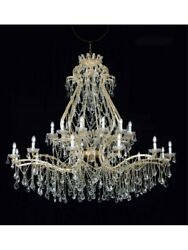 Chandelier Classic IN Leaf Gold Vivo Glass And Crystal Tp 117-LA-24+1-05