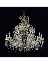 Chandelier IN Leaf Silver And Crystal Tp CLASSICA-116-LA-10+1-03