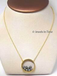 Ladies Pendant 8 Floating Diamonds 18k Gold 16