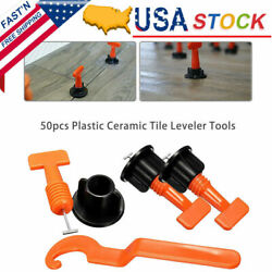50x Flat Ceramic Floor Wall Construction Reusable Tile Leveling System Kit Tools $19.99