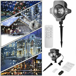 Snow Fall LED Lights Outdoor Laser Projector Light Fairy Lamp Christmas Decor BP