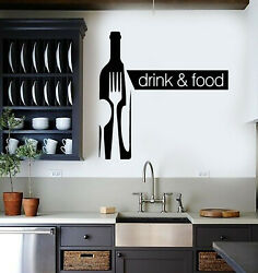 Vinyl Wall Decal Drink Food Alcohol Bottle Drink Kitchen Decor Stickers g2862 $49.99