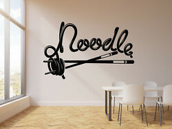 Vinyl Wall Decal Noodles Asian Food Cuisine Cafe Kitchen Decor Stickers g2871 $29.99