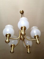 Lustre Laiton Vintage  Brass Pendant Lamp - Collection 1980
