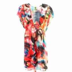 Becca by Rebecca Virtue Sheer Beach Coverup Women Size Large $30.00
