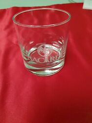 Bacardi Rum Cocktail On The Rocks Glass Bat Logo Design Barware $13.92