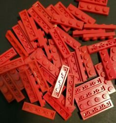 Lego Red 1x4 Plate Lot of 50. Part No. 3710 $3.95