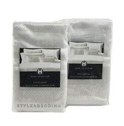 PAIR OF Hotel Collection Radiant White KING Sham Set $80.00
