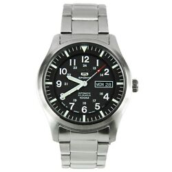 Seiko 5 SNZG13J1 Automatic Black Dial Stainless Steel Mens 100M Watch $145.00