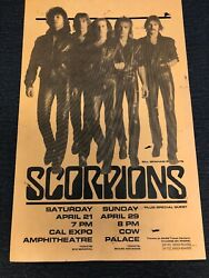 BILL GRAHAM PRESENTS Scorpions Plus Special Guest ORIGInal POSTER Some Damag $52.49
