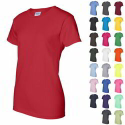 Gildan Ladies#x27; Ultra Cotton Womens Short Sleeve T Shirt 2000L $9.33