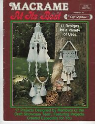 Macrame At Its Best with Wall Hanging Coffee Table amp; Lamp Patterns Craft Book $16.99