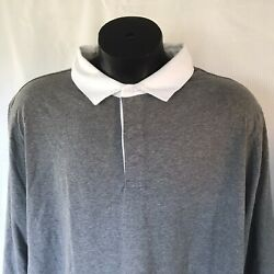 NEW Goodfellow amp; Co Long Sleeve Rugby Polo Target MENS 4XB TALL Gray Cotton $17.00