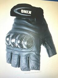 Motorcycle Gloves Fingerless with Armored Knuckles $14.99