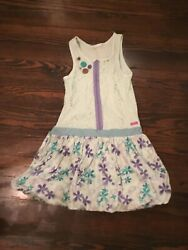 Naartjie VGUC Blue amp; Purple Girl's Lace Bodice Tunic Dress 7 8 $14.99
