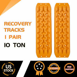 PAIR Sand Tracks Recovery Tracks Traction Off Road Snow Tire Ladder 4WD Orange $49.99