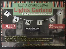 Customize String Letter Lights Light up Letters Garland 10 Led Box  $8.99
