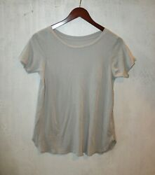 James Perse Short Sleeve Tee in Grey Size SMALL $22.99