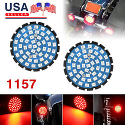 2x 1157 Brilliant Red 48-SMD LED Turn Signal Tail Lights Kit For Harley Davidson $27.97