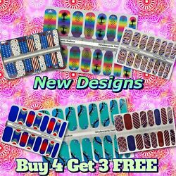 Color Nail Polish Strips Buy 4 Get 3 FREE Exclusive Glitters Ombre Summer $3.00