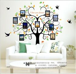 Removable Vinyl Wall Decal Family Photo picture frame tree Sticker DIY Decor $14.99