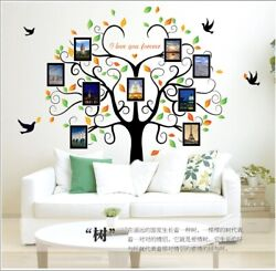 Removable Vinyl Wall Decal Family picture frame tree Sticker Home DIY Decor $14.99