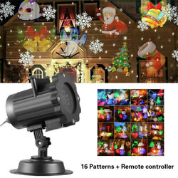 Christmas Lights Projector LED Laser Outdoor Landscape Xmas Lamp 16 Patterns