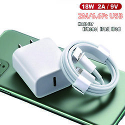 Fast Charger Cable Adapter PD 18W 2A USB-C to Lightning For iPhone 11 11Pro Max $5.25