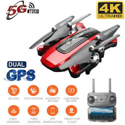 Drone Foldable Quadcopter GPS WIFI FPV 1080P Wide-Angle HD Camera Christmas Red $81.69