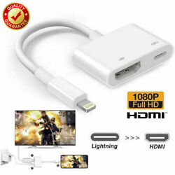 Lightning To HDMI Cable Digital AV TV Adapter For iPhone 11 7 8 X XR 11 iPad Pro $10.39