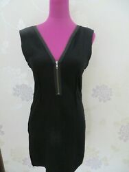 Stunning All Saints Gaea Zip Dress Black Size 12 Excellent Condition $46.27
