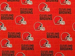 CLEVELAND BROWNS Cotton Fabric - 14 Yard (9